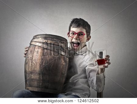 Drunk child