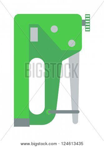 Industrial stapler concept of home improvement vectorol.