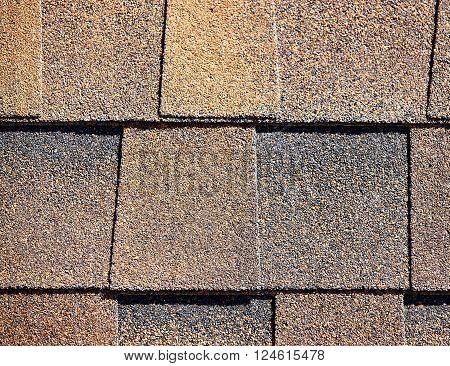 Roofing Shingles Dark Rust Tab Style Pattern