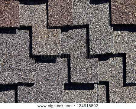 Roofing Shingles Dark Wood Shake Style Pattern