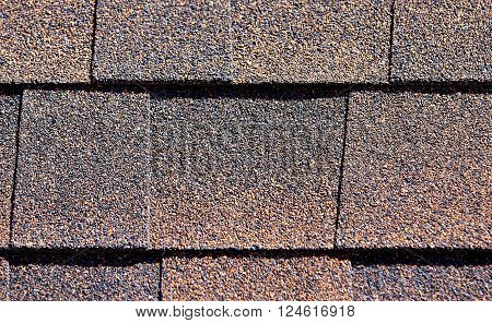 Roofing Shingles Rust Sand Shake Tab Style Pattern