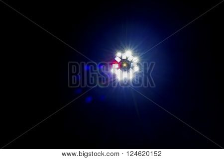 Single Coloured Disco Light Effect