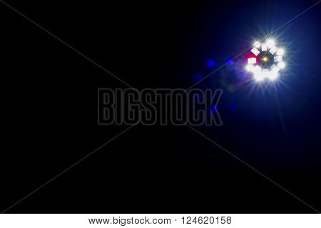 Single Brightly Coloured Disco Lightshow