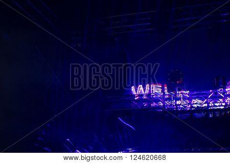 Coloured Laser Disco Light