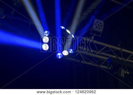 Single Blue Beams Disco Light