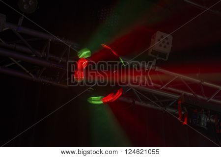 Red Brightly Coloured Disco Light