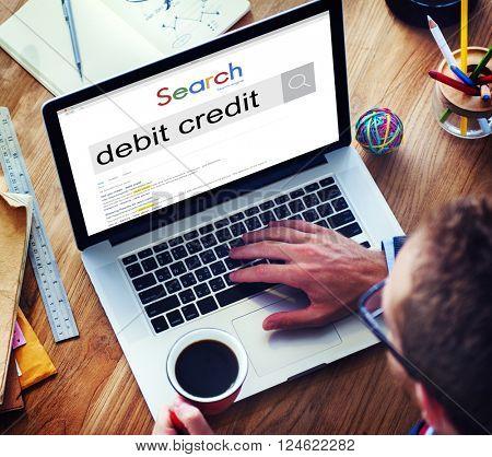 Debit Credit Finance Loan Money Profit Payment Concept