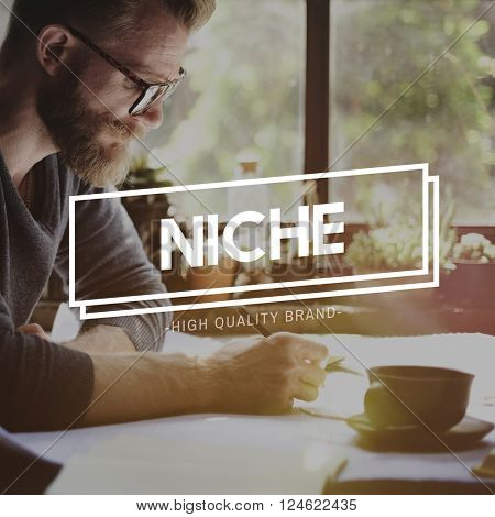 Niche Market Branding Specialty Target Business Concept