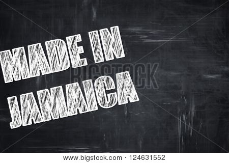 Chalkboard background with white letters: Chalkboard background with white letters: Made in jamaica with some soft smooth lines