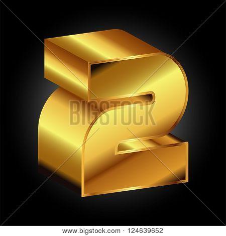 Golden 2 vector 3d Golden 2 vector 3d vector design template