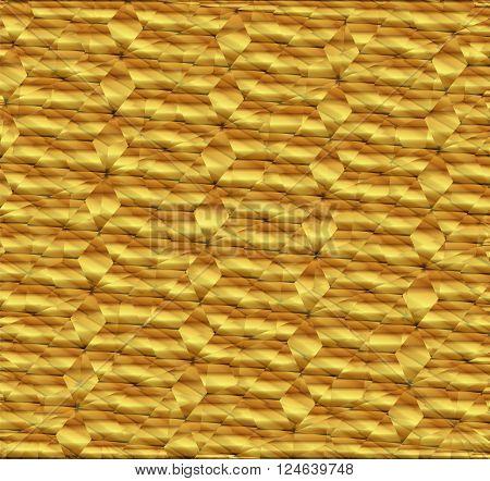Golden Polygonal background vector design template vector