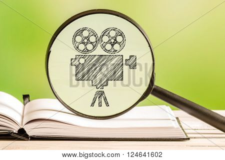 Movie Search With A Pencil Drawing