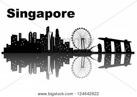 Singapore city skyline - great for your design