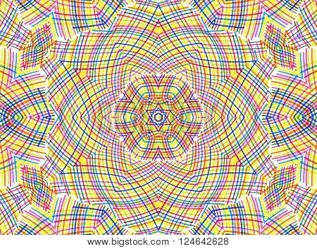 Abstract Color Lines Pattern