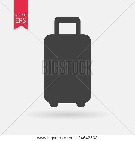 Luggage vector icon, travel luggage icon. Suitcase icon.