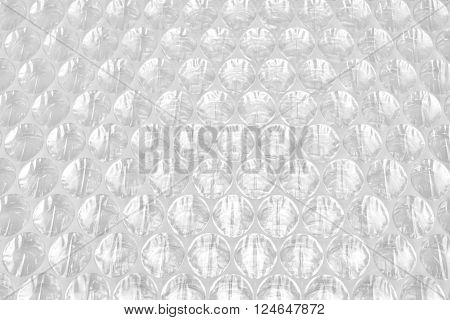 White Bubble Wrap Packing Or Air Cushion Film Abstract Background