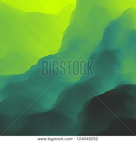 Mountain Landscape. Mountainous Terrain. Vector Illustration.