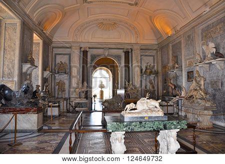 ROME-AUGUST 10:Sala degli Animali on August 10 2009 in Vatican.
