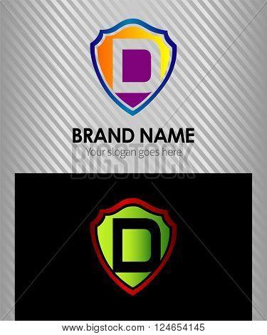 Letter D logo vector alphabet shape. ABC concept type as logo