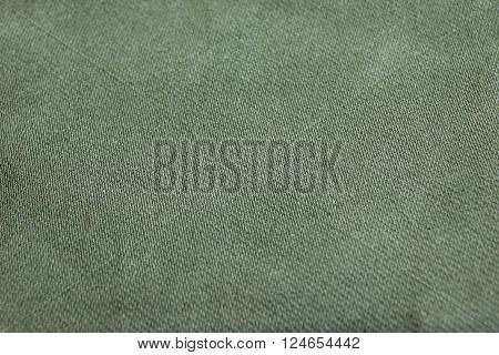 Rough Khaki or Green Camouflage Military Textile Or Pattern Or Texture As Background Macro Closeup Army Concept