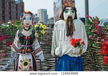 Dnepropetrovsk Ukraine - September 14 2013: Exhibition Folk Art dedicated to the City Day