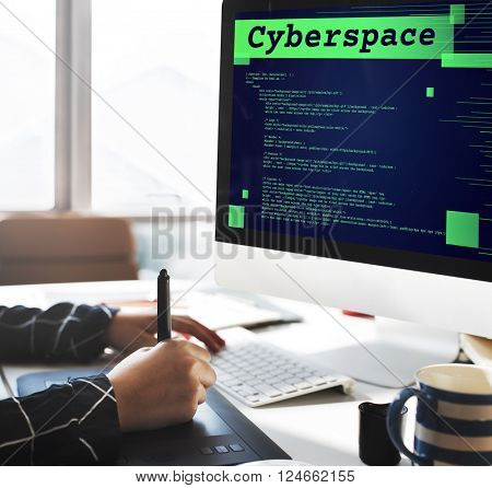 Cyberspace Digital Information Technology Web Concept