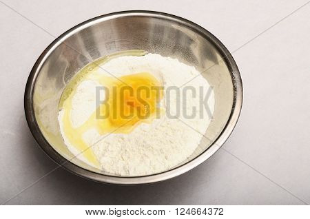 Bowl With Flour And Eggs