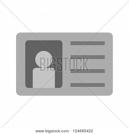 Identity, card, authorization icon vector image.Can also be used for security. Suitable for web apps, mobile apps and print media.