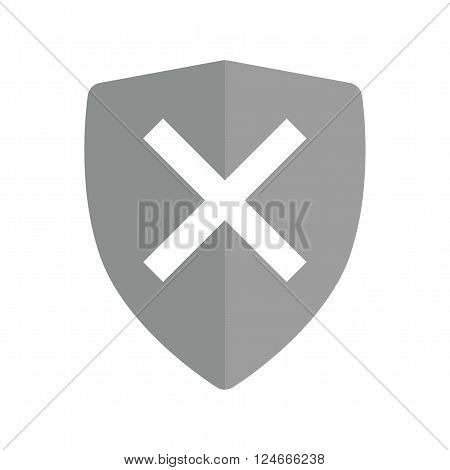 Unprotected, unsafe, alert  icon vector image.Can also be used for security. Suitable for mobile apps, web apps and print media.