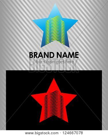 Real Estate logo. Architect Construction Idea with star icon