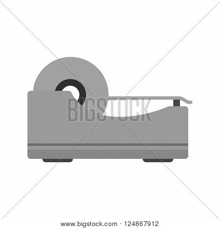 Tape, sticky, roll icon vector image. Can also be used for stationery. Suitable for web apps, mobile apps and print media.