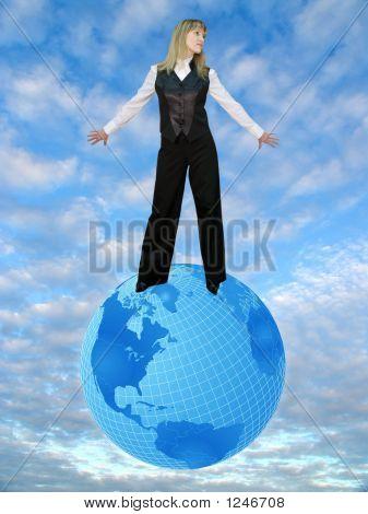 Sky, Earth And Woman