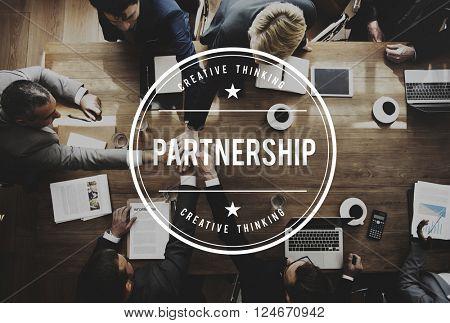 Partnership Alliance Association Teamwork United Concept