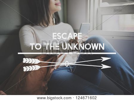 Escape to the Unknown Vision Freedom Leaving Concept