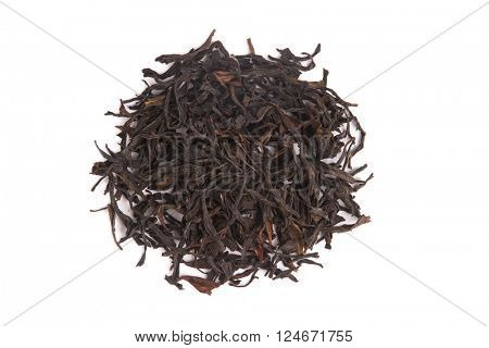 Top view of Honey Orchid Oolong, isolated on white background