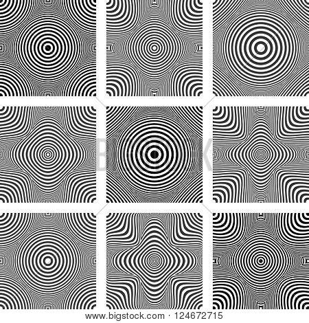Patterns set. Design elements. Vector art.