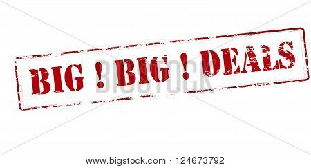 Rubber stamp with text big deals inside vector illustration`