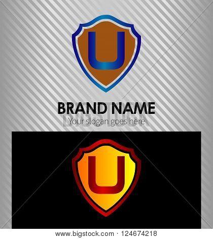 U Letter U Letter vector design template