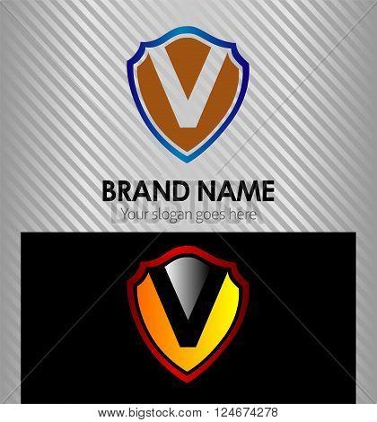 V Letter V Letter vector design template