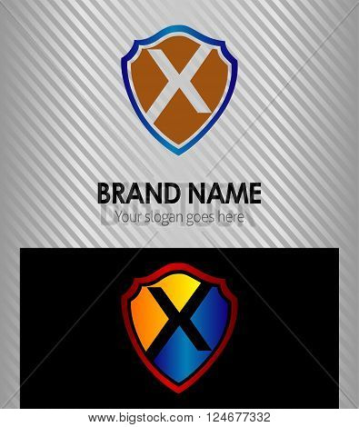 X Letter X Letter vector logo icon