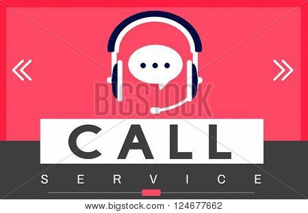 Call Service Advice Hotline Concept