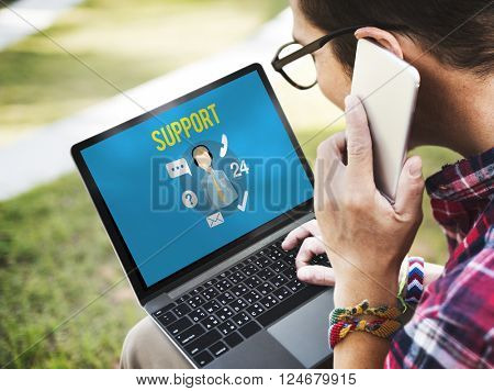 Support Helping Customer Service Advice Concept