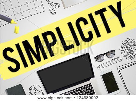 Simplicity Minimal Simple Effortleness Modern Concept