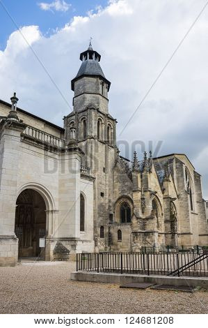 Saint-Seurin Basilica is part of the World Heritage Sites of the Routes of Santiago de Compostela in France Bordeaux
