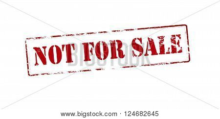 Rubber stamp with text not for sale inside vector illustration`