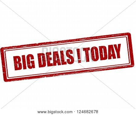 Rubber stamp with text big deals today inside vector illustration`