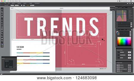 Trends Trendy Trending Popular Vogue Modern Concept
