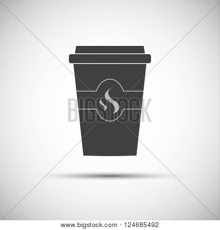 Simple icon paper cup of coffee vector illustration
