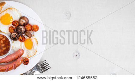 Full English Breakfast Background