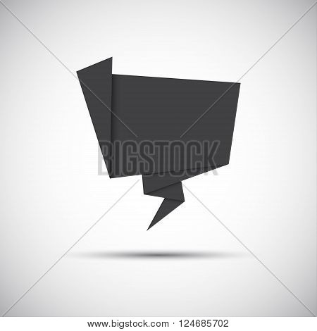 Simply grey paper origami icon vector illustration for you website and infographic